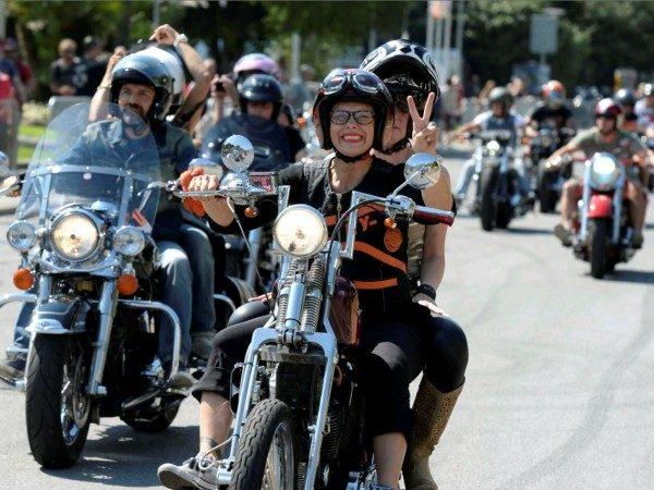 Raduno donne bikers