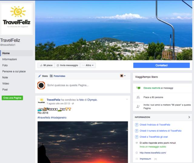 Siamo anche su Facebook, TravelFeliz